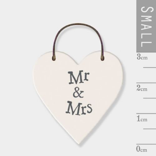 East of India - Mini Token Heart - Mr & Mrs